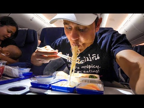 ANA All Nippon Airways FOOD REVIEW - Flying from Bangkok to Tokyo Haneda Airport, Japan!