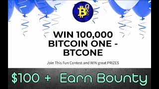 BitCoin One Airdrop [ 100,000 BTK ] Free BTCONE Tokens