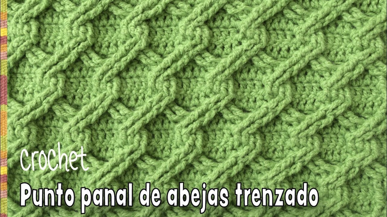 Punto panal de abejas 3D trenzado tejido a crochet - Tejiendo Perú ...