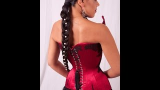 RELACING YOUR CORSET: Chevrons & Inverted Loops | Lucy