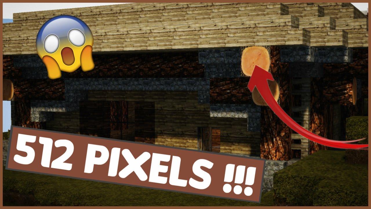 LE PACK DE TEXTURE LE PLUS REALISTE DE MINECRAFT !!! 512 PIXELS !!! - YouTube