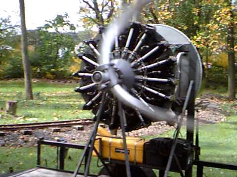 1943 Lycoming R 680 9 Cyl Aircraft Engine At The Jacktown
