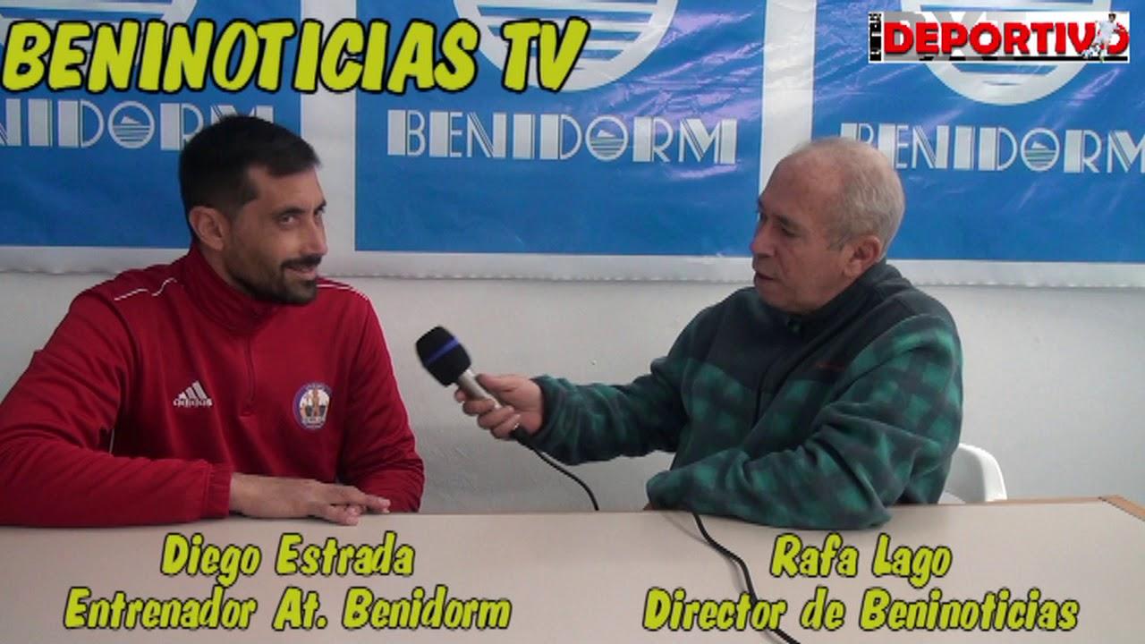 Entrevista al entrenador del At. Benidorm, Diego Estrada