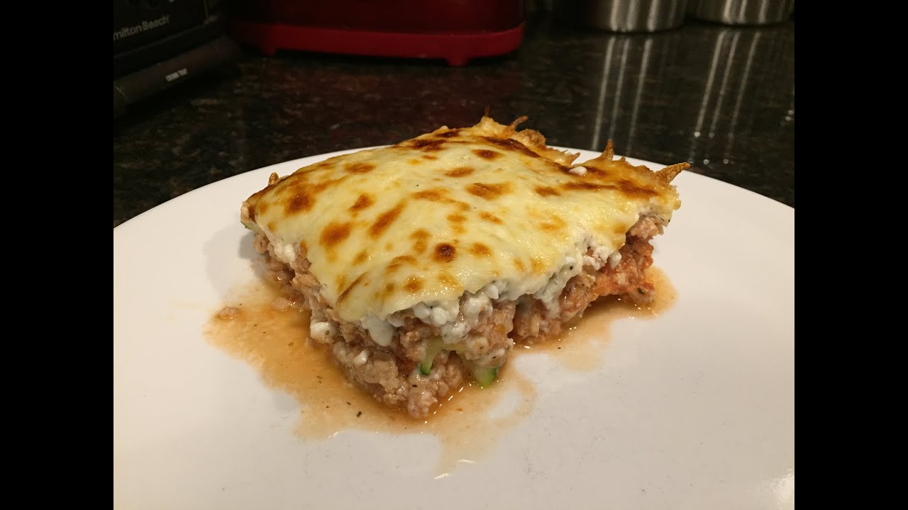 Noodle-less Zucchini Lasagna Video Blog - YouTube