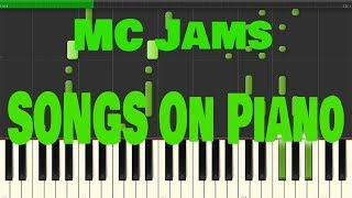 Mc Jams Songs on Piano Compilation ♫Black MIDI Synthesia♫