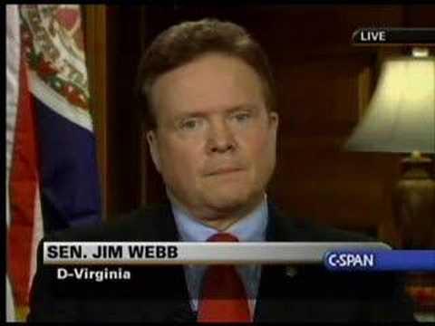 Jim Webb gives Democratic response to 2007 SOTU (Part 2)