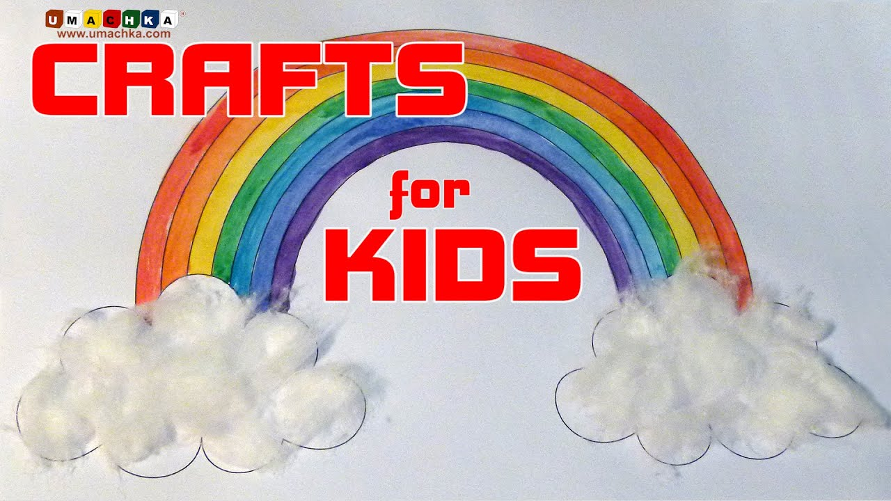 Creative Classes For Children Crafts From Scrap Materials Rainbow In The Clouds