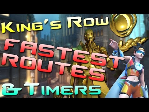 Fastest Ways From Spawn to Point! | Kings Row | Quickest Heroes, Payload Distances, Capture Speeds