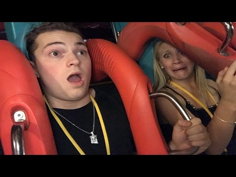 SHE ALMOST FELL OFF THE ROLLER COASTER! - GONE WRONG