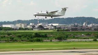 [航空灯火検査] JCAB DHC-8-300 JA007G INSPECTION Aeronautical Light TOYAMA Airport 富山空港 thumbnail