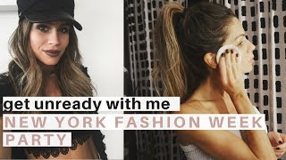 New York Fashion Week Get UNREADY With Me | Night Time Routine