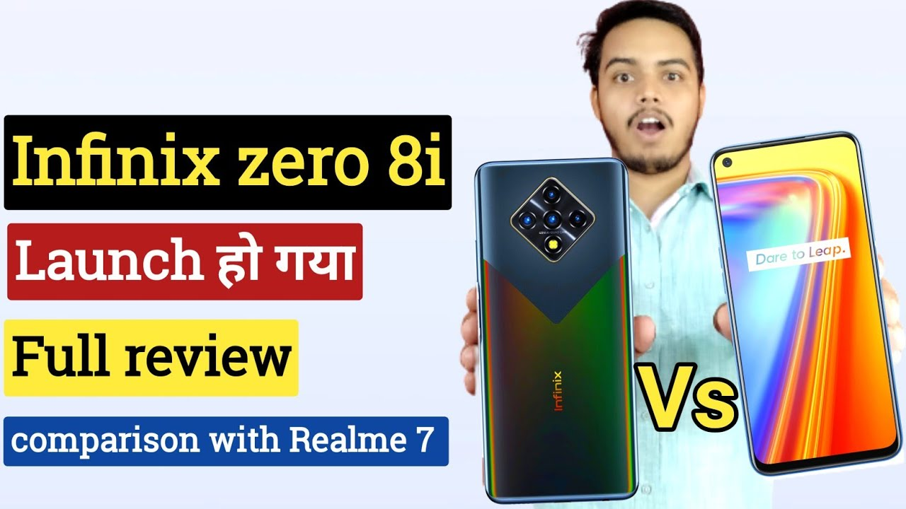 infinix zero 8i launched today full review, full comparison with Realme 7 🔥