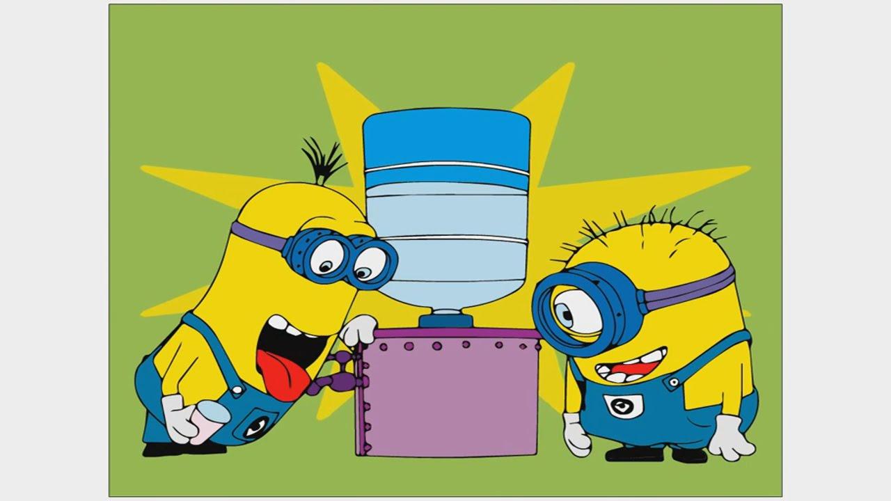 Миньон, веселая раскраска Minion coloring игра для детей ...