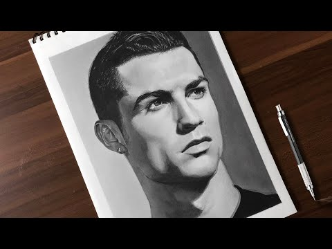 Drawing Cristiano Ronaldo Realistic Pencil Drawing Time Lapse Youtube