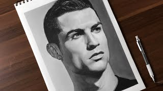 Drawing Cristiano Ronaldo | Realistic pencil drawing time-lapse