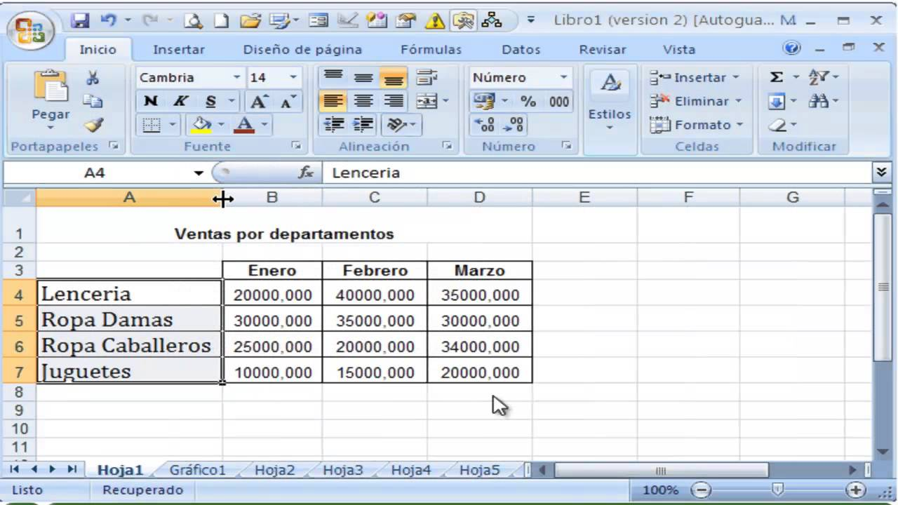 Video Tutorial: Cambiar fuente en Excel, Tamaño de letras - YouTube