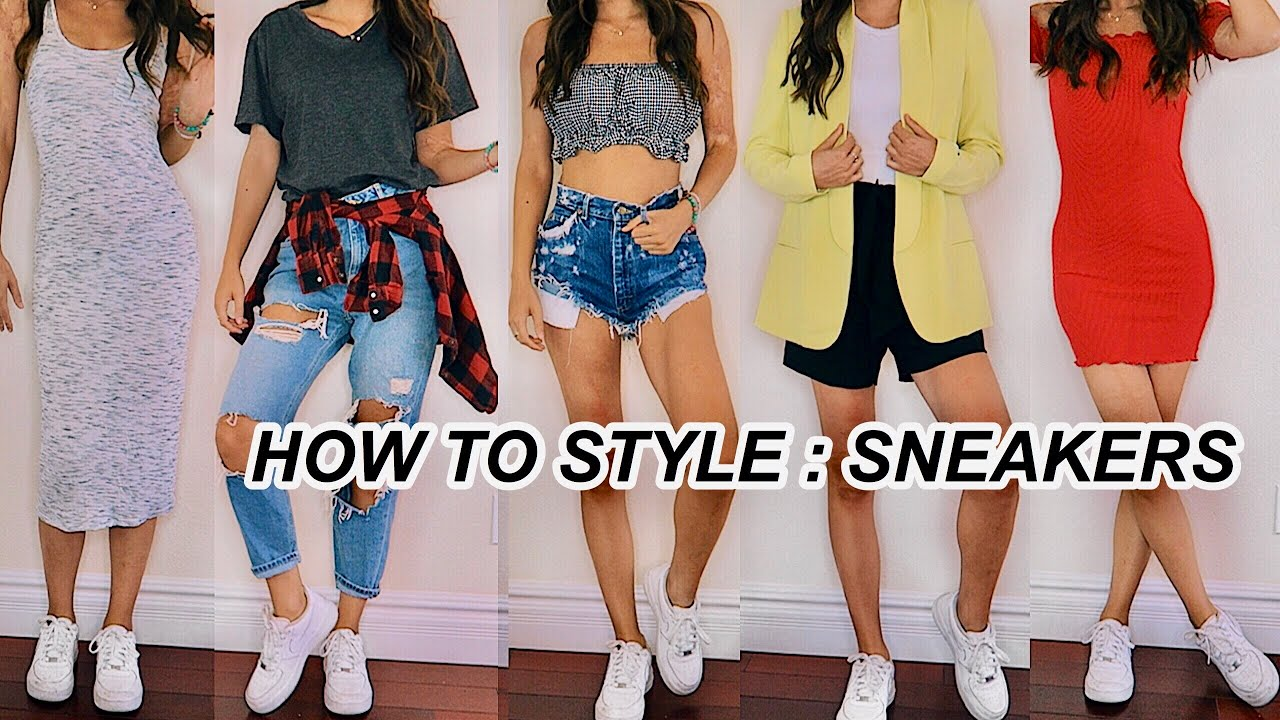 How To Style Nike Air Force Ones Chunky Sneaker Outfit Ideas