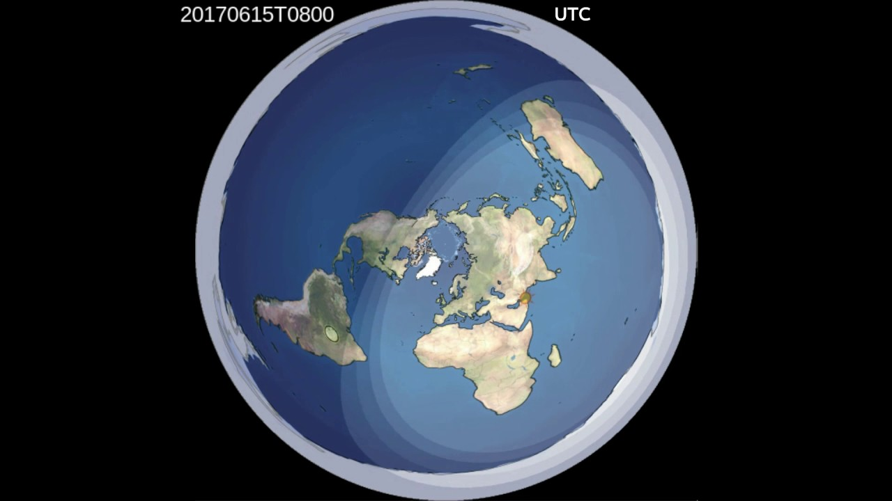 2017 Day And Night Animation (Colorized) Flat Earth - YouTube