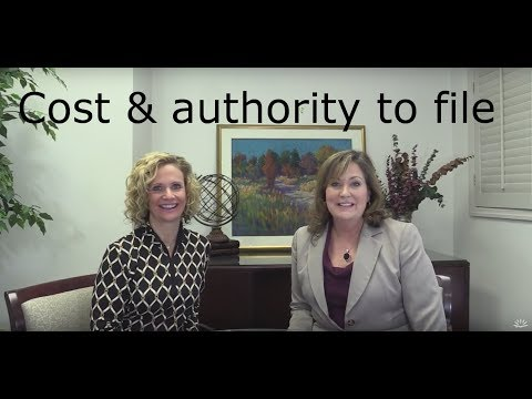 Chapter 11 bankruptcy- the cost and authority to file