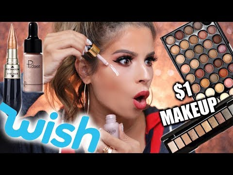 $1 MAKEUP FROM WISH TESTED   HIT OR MISS??