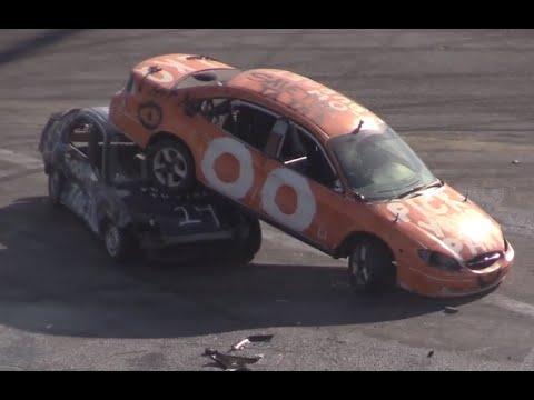 Irwindale Speedway Day of Destruction 2-15-15 Compact Car Demolition Derby