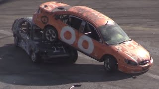 Irwindale Speedway Day of Destruction 2-15-15 Compact Car Demolition Derby