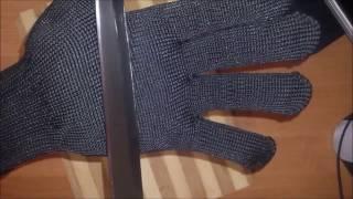 Посылки с алиэкспресс! перчатки антипорез в реале!