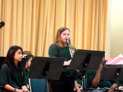 """Becca Temple Playing """"O Tannenbaum"""" at the Lake Placid Middle School Band Concert Dec 2011"""