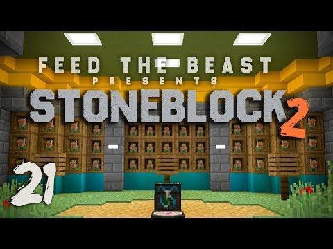 StoneBlock 2 Modpack Ep. 21 Fast EMC Chickens