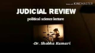 Judicial review full detail Nyayik punarvilokn CBSE-UGC -NET SET jrf political science lecture