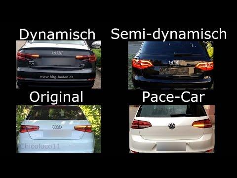 Dynamisch vs. Semi vs. Pacecar vs Original Blinker VW/Audi