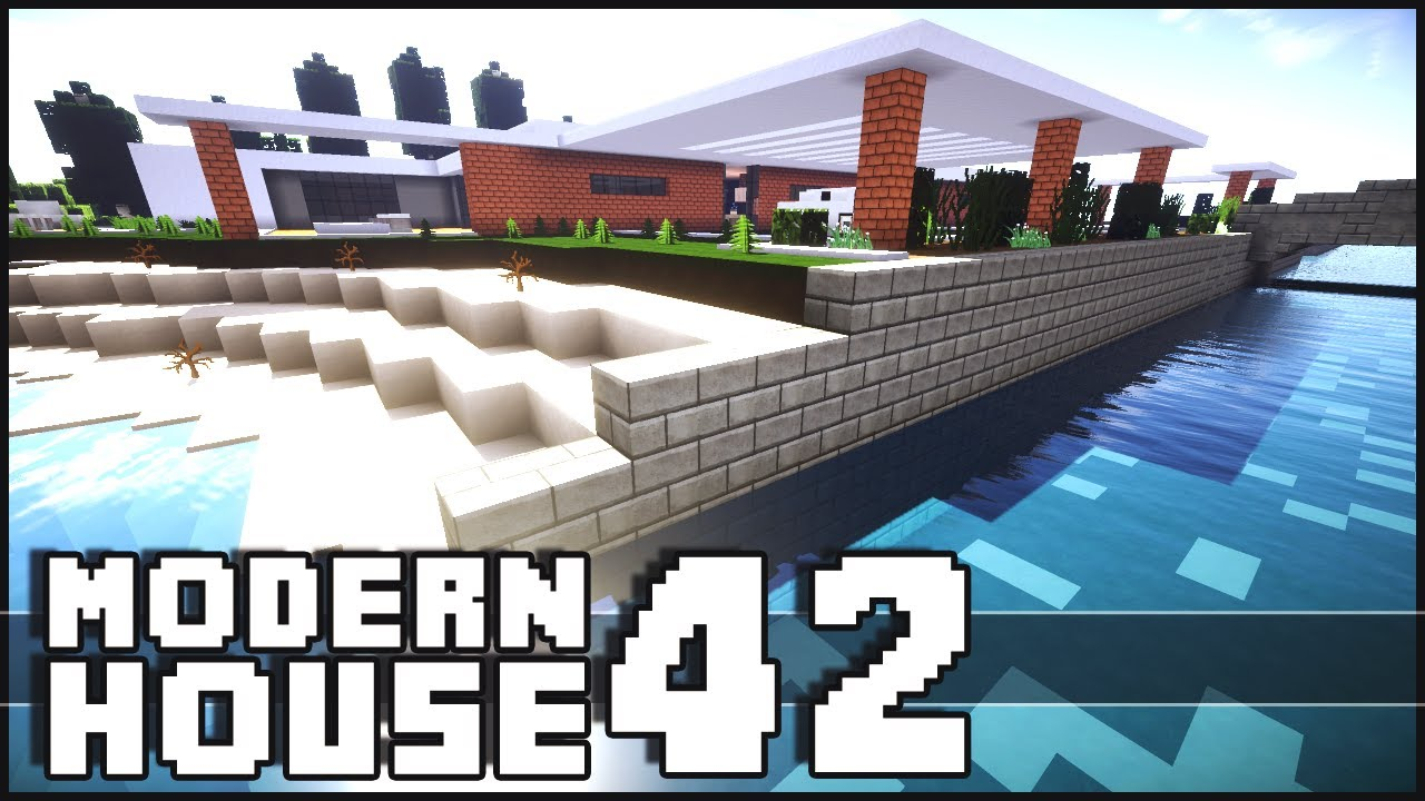 minecraft modern house 42 youtube