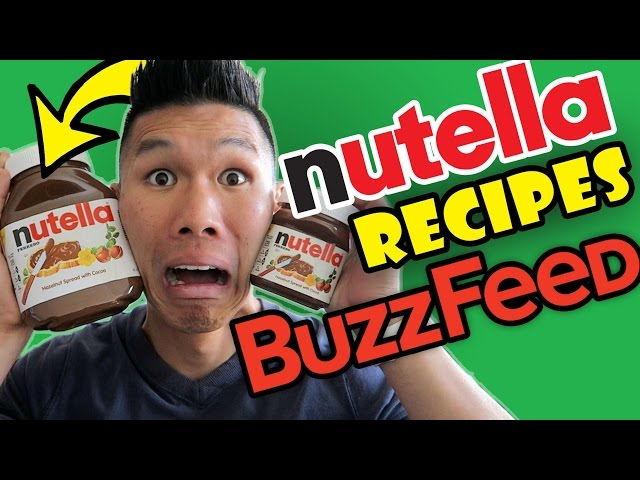 BUZZFEED FOOD NUTELLA Recipes Taste Test - Life After College: Ep. 499