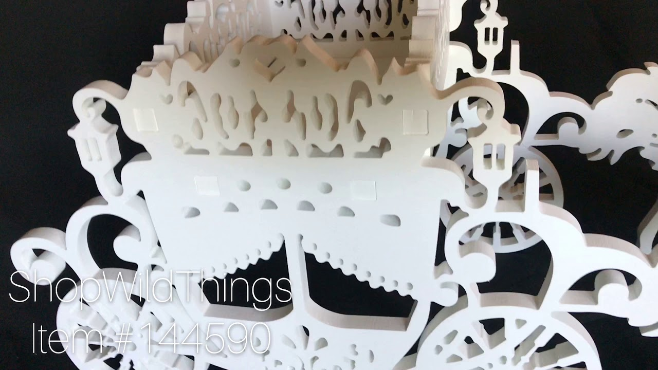 ShopWildThings Wooden Cinderella Carriage & Horses Prop - YouTube