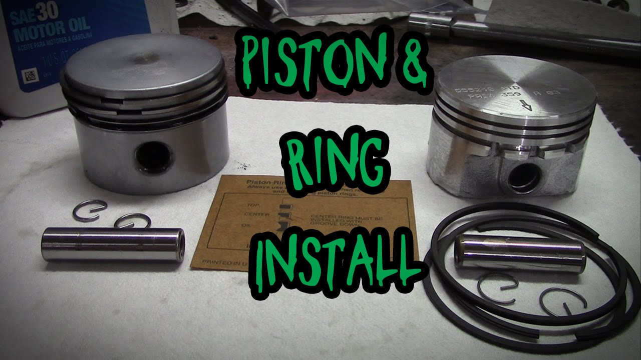 How To Install A Piston And Rings Youtube Simple Engine Diagram