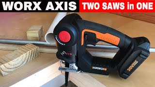 WORX AXIS SAW  ITEM WX550L - FULL REVIEW!!