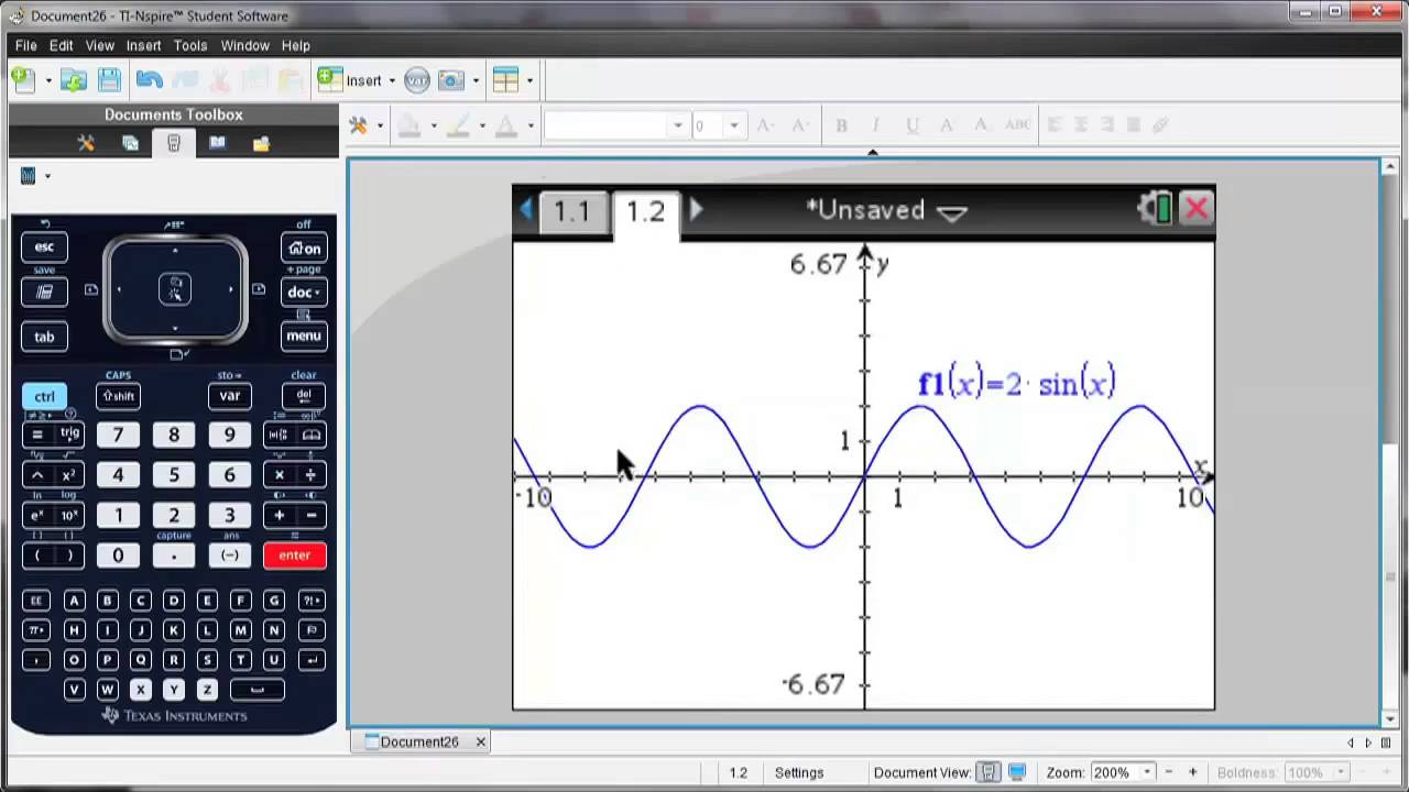 TI Nspire™ CX Handheld TI Nspire for Calculus - YouTube
