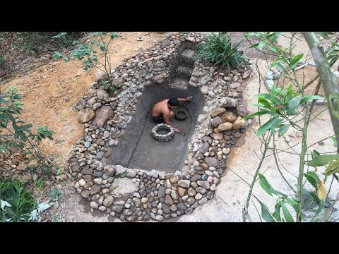 Primitive Life:Fish Pond-part3-Waterproofing!