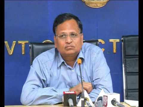Urban Development Minister Satyendar Jain Press Conference.