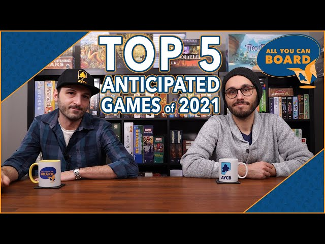 10 Most Anticipated Board Games of 2021 (TOP 5 each!)
