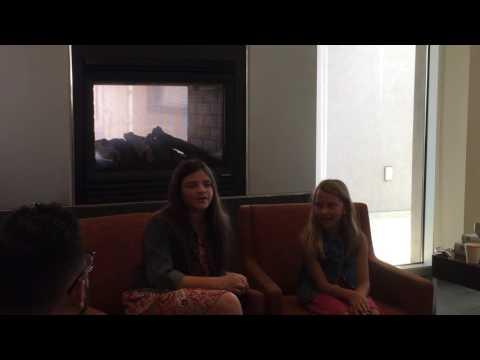 Livvy Stubenrauch And Eva Bella Frozen round table preComicpalooza 2016
