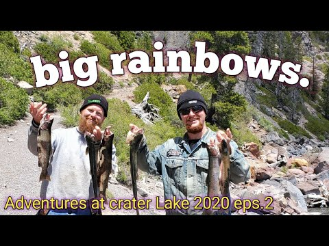 Big Rainbows Fishing Crater Lake/ Crater Lake National Park  2020