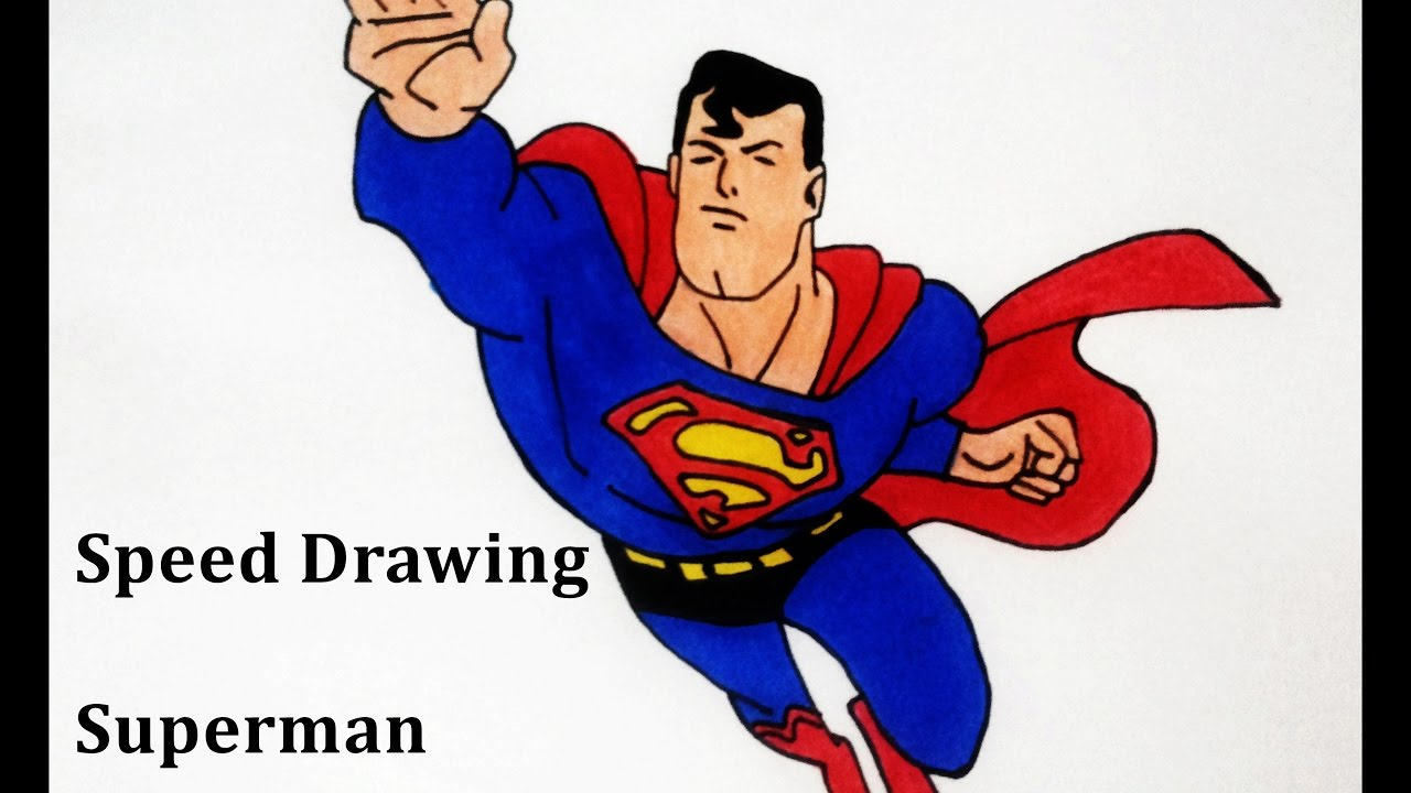 how to draw super man