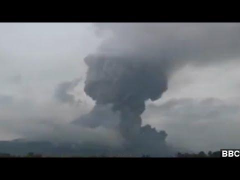 Indonesia Volcano Sends Massive Ash Cloud A Mile Up