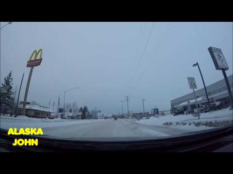 ALASKA DRIVING - Anchorage Snow & Errands - December 30th 2016
