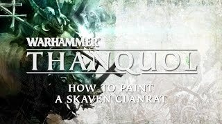 How to paint a Skaven Clanrat