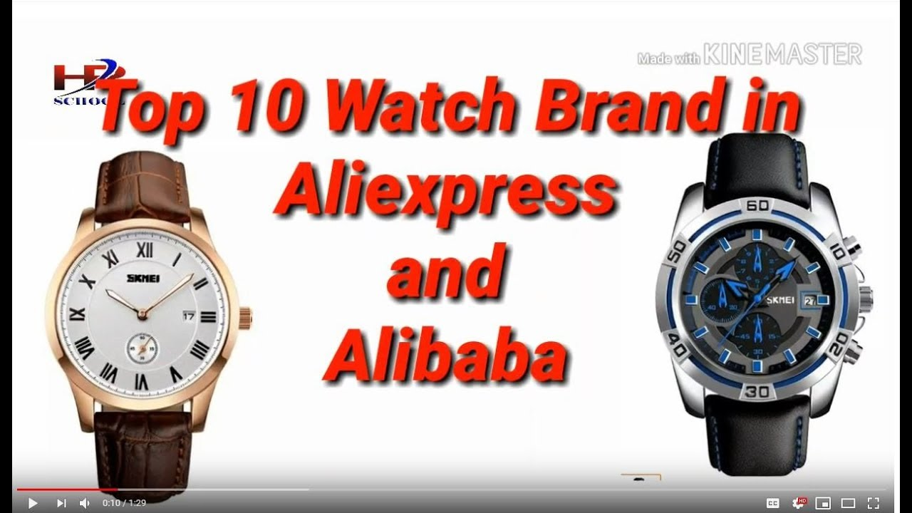 eb4b1348b02 Top ten watch brand in aliexpress and alibaba - YouTube