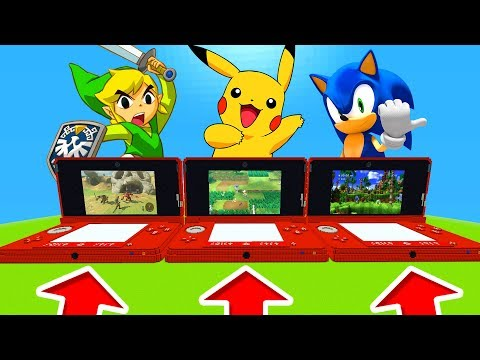 Minecraft PE : DO NOT CHOOSE THE WRONG NINTENDO DS! (Zelda, Pokemon & Sonic)