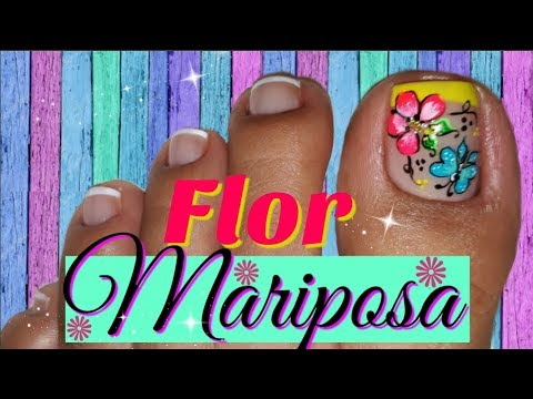 Decoracion De Unas Pies Flores Facil Nail Decoration Feet Flowers