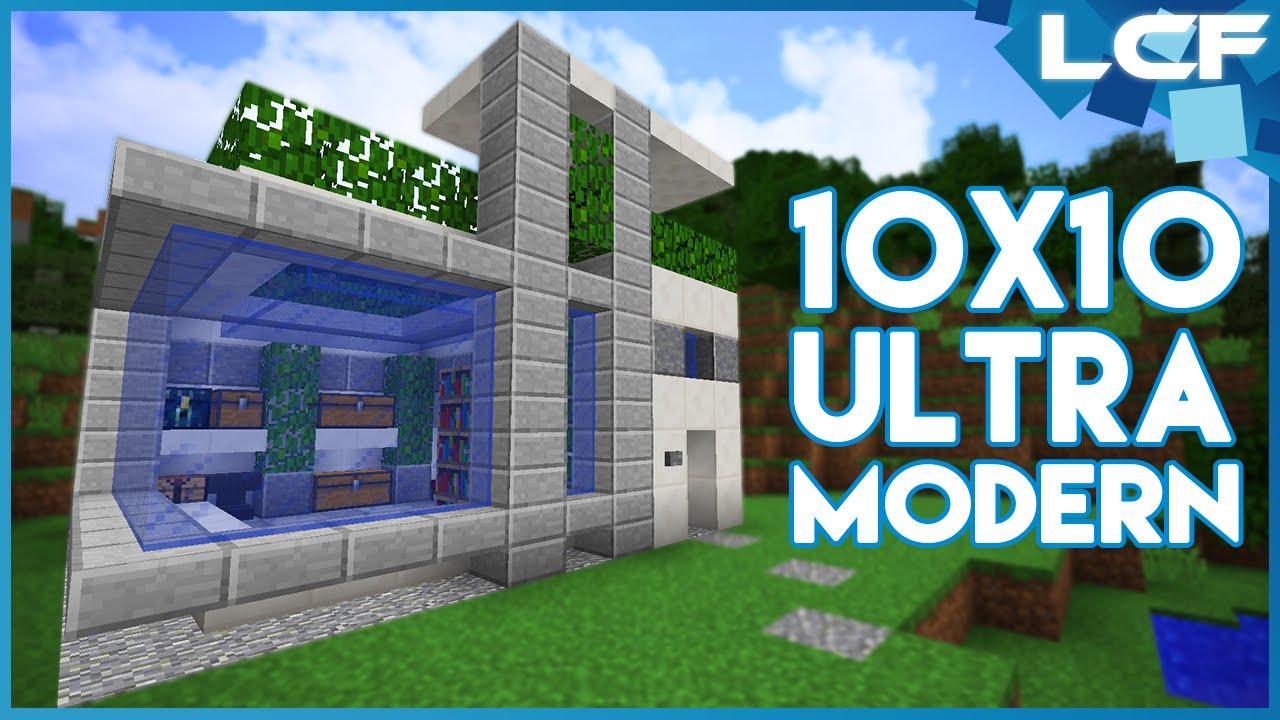 Minecraft Tutorial Ultra Modern House 10x10 YouTube
